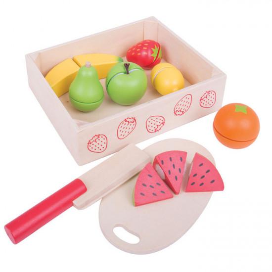 Bigjigs -  Krájení ovoce v krabičce