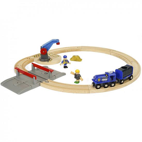 Brio set - Vláčkodráha s policejním vlakem