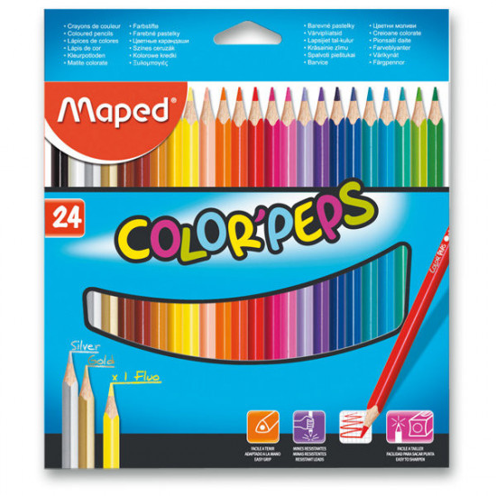 Pastelky Maped Color'Peps  - 24 barev