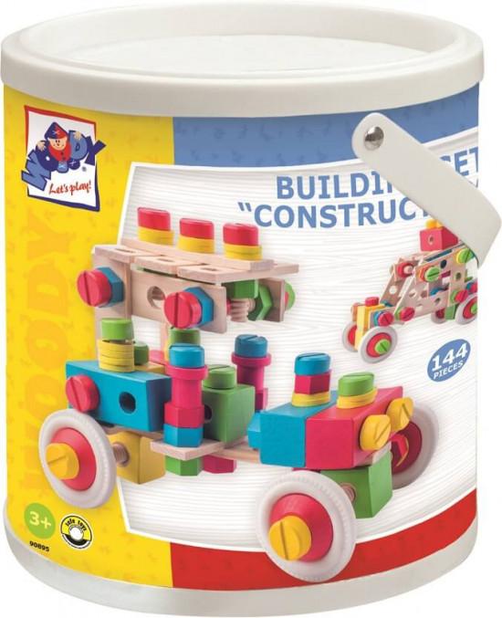 Constructor - Montážní stavebnice v kyblíku - 140 ks