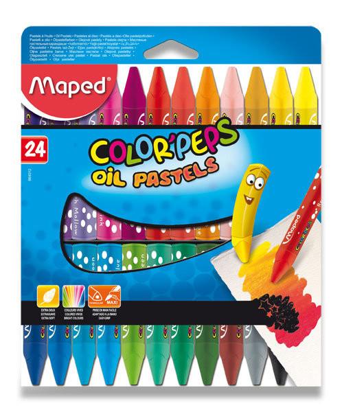 Olejové pastely Maped Color´Peps - 24 barev