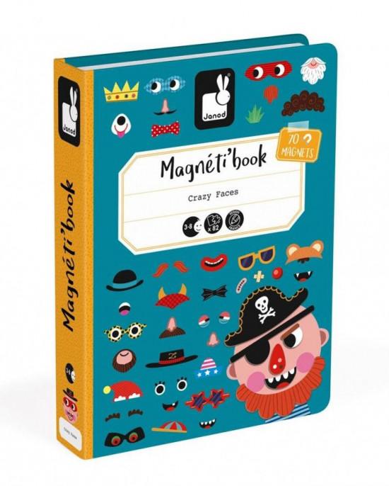 Magnetická kniha - skladačka Zábavné tváre - chlapci