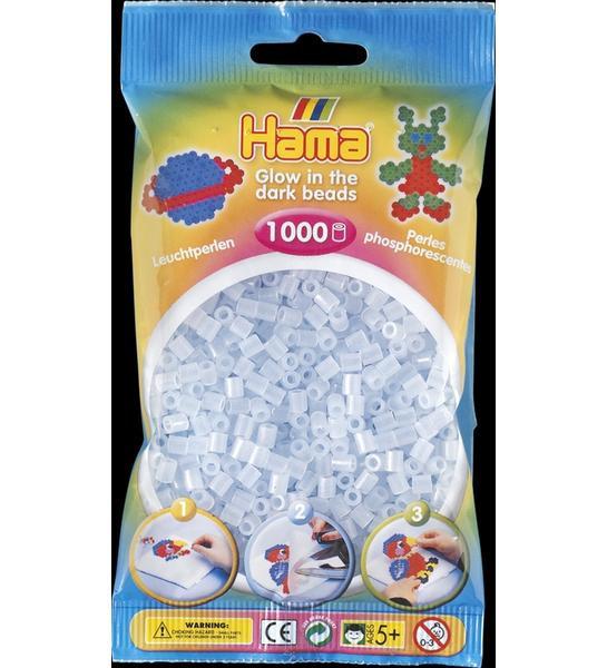 Hama Midi - korálky modré svítící 1000 ks