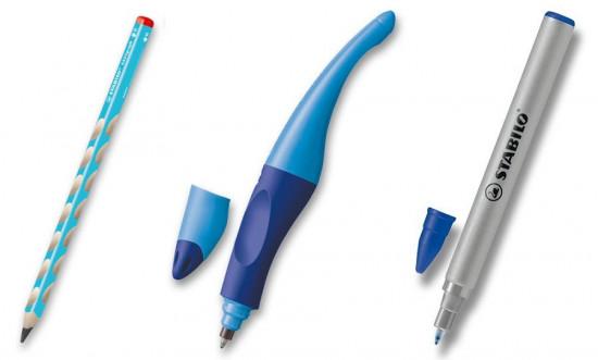 Sada písacích potrieb STABILO pre pravákov - modrá