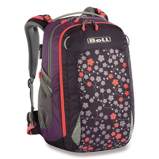 Školní batoh BOLL SMART Artwork Collection 24 l květy - Purple