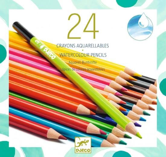 Akvarelové pastelky - 24 ks