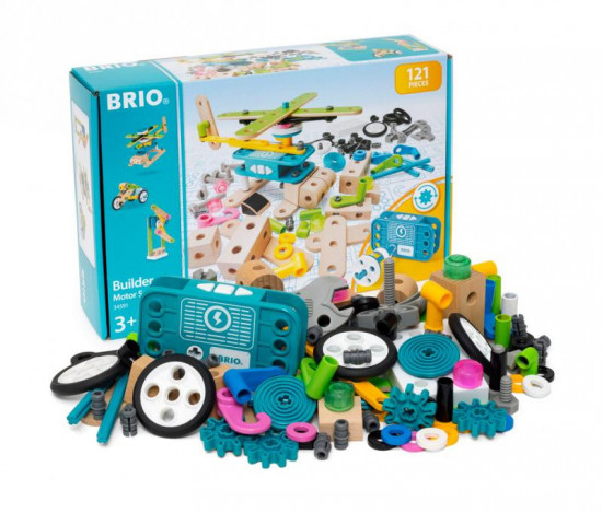 Brio Builder – stavebnica súprava s motorom – 120 ks