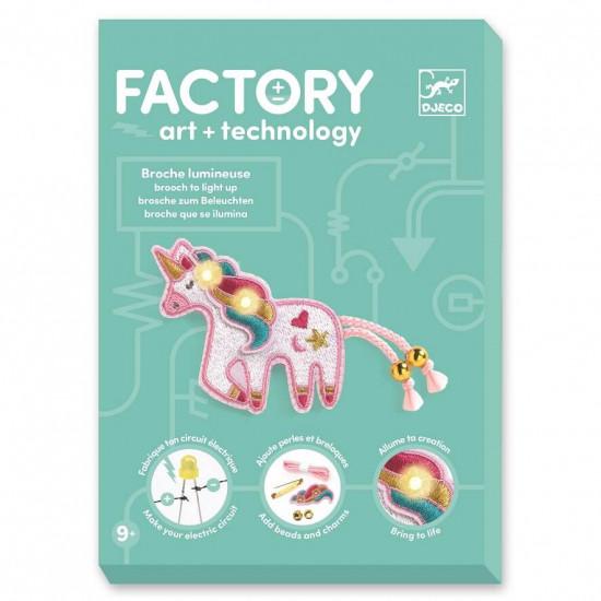 Umění a technologie - Svítící brož - jednorožec