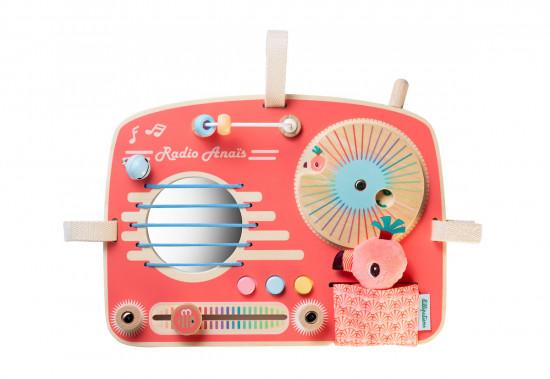 Lilliputiens – drevený panel s aktivitami – rádio