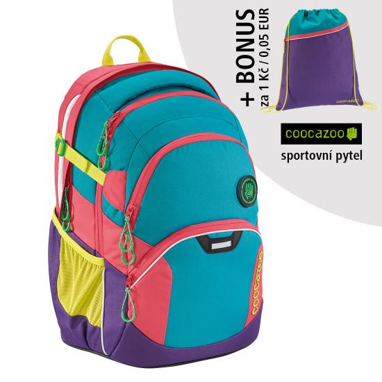 Školní batoh Coocazoo JobJobber2, Holiman + sportovní pytel za 1 Kč