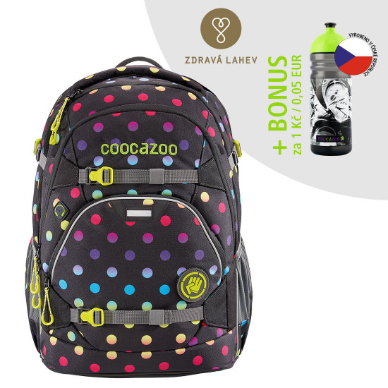 Školský ruksak Coocazoo ScaleRale, Magic Polka Colorful + zdravá fľaša za 0,05 EUR