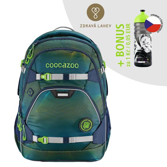 Školský ruksak coocazoo ScaleRale, Soniclights Green + zdravá fľaša za 0,05 EUR
