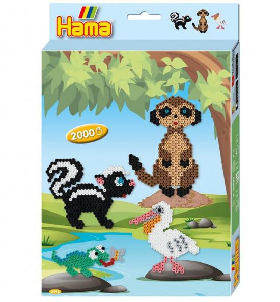 Hama Midi – Darčeková súprava – Zvieratká – 2000 ks