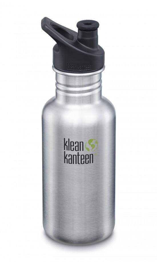 Nerezová fľaša Klean Kanteen Classic w/Sport Cap 3.0 - brushed stainless 532 ml