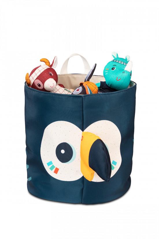 Lilliputiens - košík na hračky - tukan Pablo