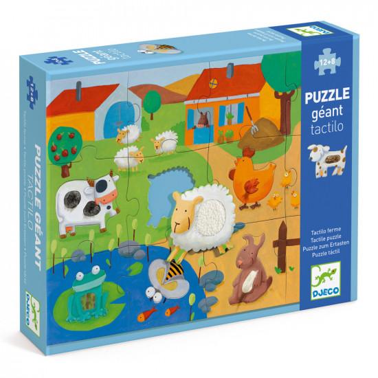 Puzzle hmatové - Farma 20 ks