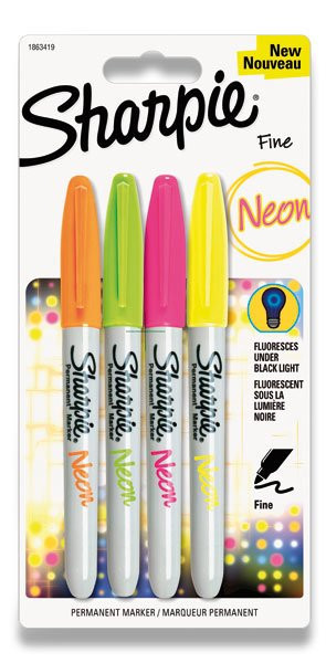 Permanentný popisovač Sharpie Neon - 4 farby
