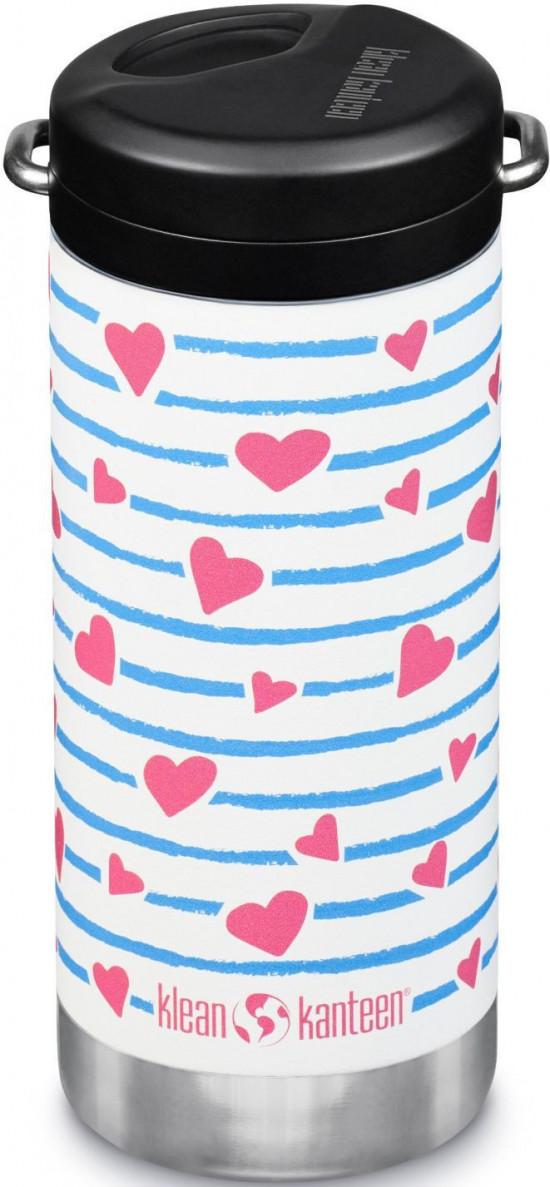 Termoska Klean Kanteen TKWide w/Twist Cap - heart stripe 355 ml