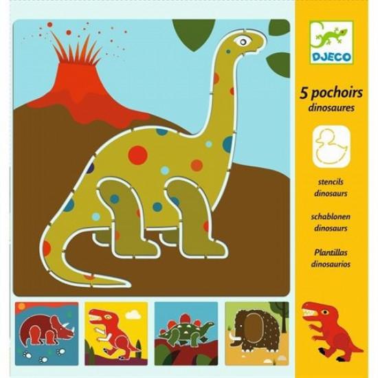 Kresliace šablóny – Dinosaury