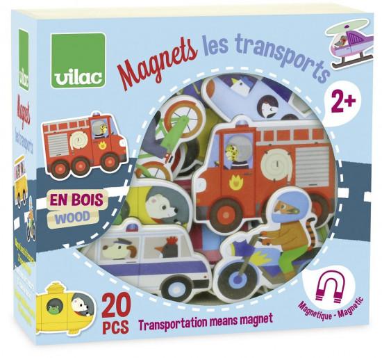 Dřevěné magnetky - Doprava - 20 ks