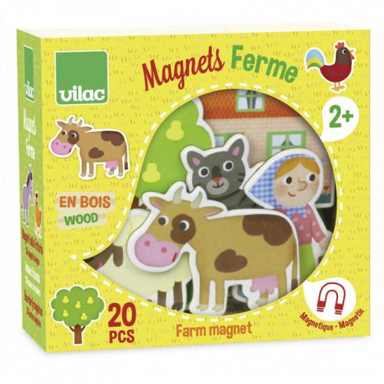 Dřevěné magnetky - Farma - 20 ks