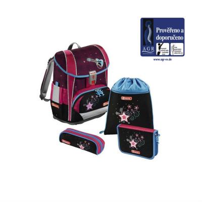 Školská aktovka LIGHT 2 pre prváčikov - 4-dielny set, Step by Step Popstar, certifikát AGR