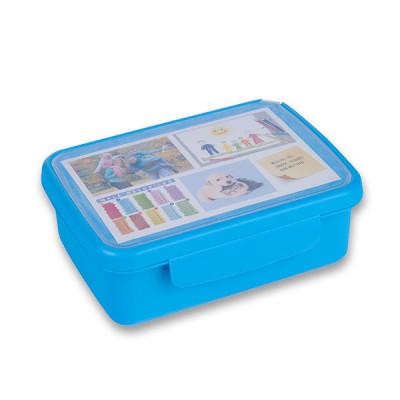 Desiatový box Zdravá desiata- modrý