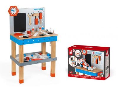 Drevená detská dielňa a náradie - 40 ks