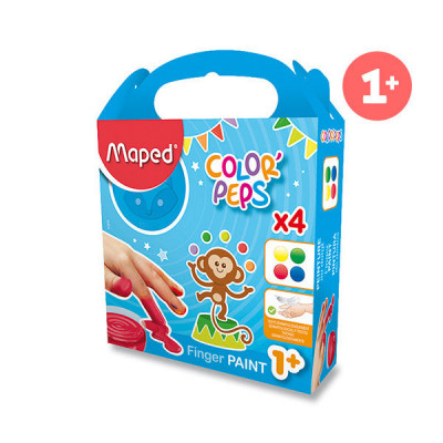 Prstové farby Maped Color´s Peps- 4 x 80 ml