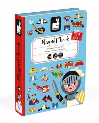 Magnetická kniha - skladačka Obliekanie Chlapci