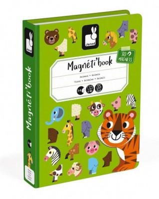 Magnetická kniha - skladačka Zvieratá
