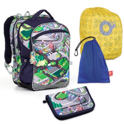 Set pre školákaTopgal - COCO17001 B + PENN17001 B +vrecko na prezuvky, pláštenka na batoh