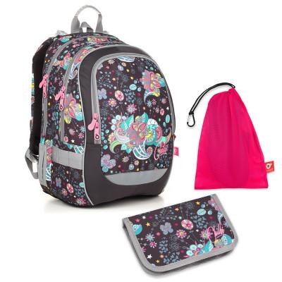 Set pre školáčku CODA 18006 G SET MEDIUM - Školská taška, Vrecko na prezuvky, Školský peračník