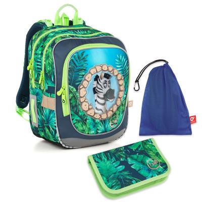 Set pre školáka ENDY 18010 B SET MEDIUM - Školská taška, Vrecko na prezuvky, Školský peračník