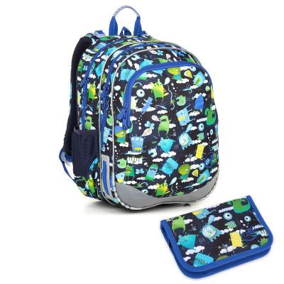 Školský batoh a peračník Topgal ELLY 18002 B