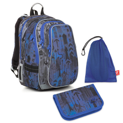 Školní set Topgal LYNN 18005 B - batoh + penál + pytlík na přezůvky