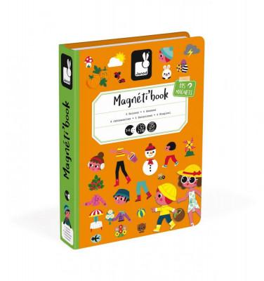 Magnetická kniha - skladačka Ročné obdobia