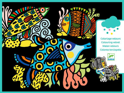 Sametové malování - Rybky