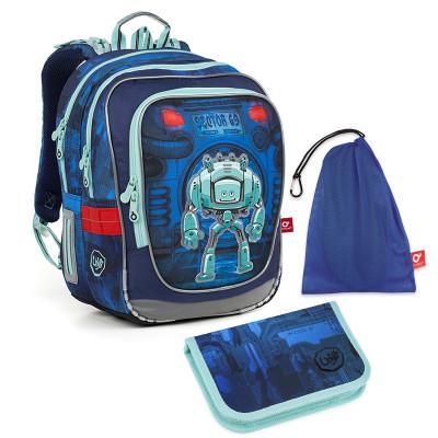 Set pre školáka ENDY 18047 B SET MEDIUM - Školská taška, Vrecko na prezuvky, Školský peračník