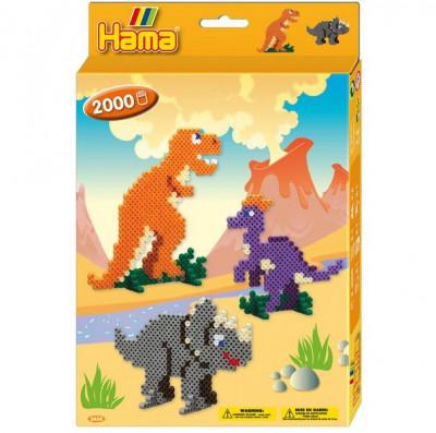 Hama midi - darčeková sada - dinosauri - 2000 ks