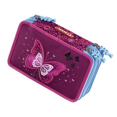 Vybavený blikací peračník Step by Step , Trblietavý motýľ