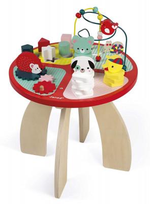 Drevený hrací stolík s aktivitami na jemnú motoriku Baby Forest