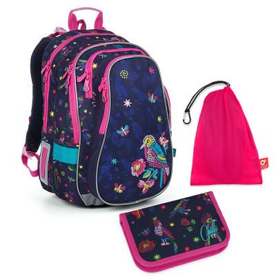 Set pre školáka LYNN 19008 G SET MEDIUM - školská taška, vrecko na prezuvky, školský peračník