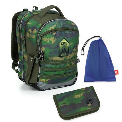 Set pre školáka COCO 19015 B SET MEDIUM - Školská taška, Vrecko na prezuvky, Školský perační