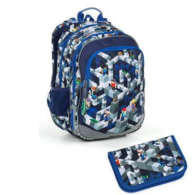 Školský batoh a peračník Topgal ELLY 19014 B + PENN19014B