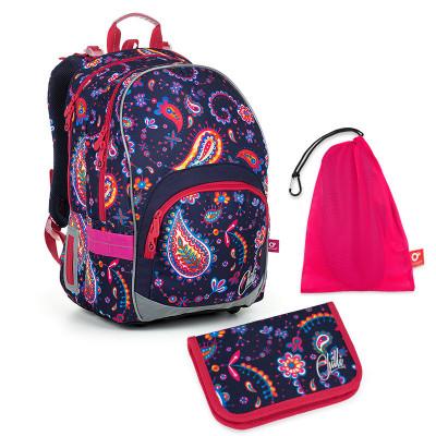 Set pre školáka KIMI 19010 G SET MEDIUM - školská taška, vrecko na prezuvky, školský peračník
