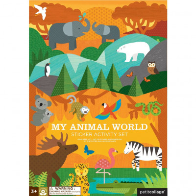 Kreatívne samolepky- môj svet zvierat
