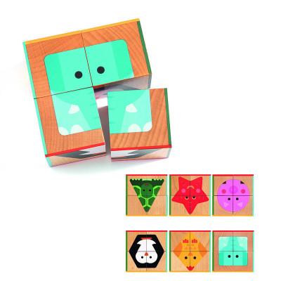 Dřevěné kostky - geometrické tvary