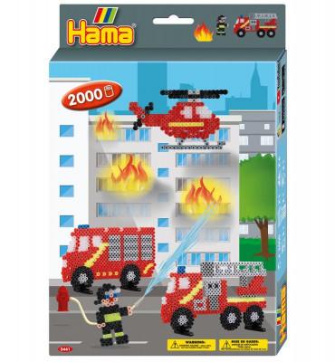 Hama Midi - darčeková sada - hasiči - 2000 ks