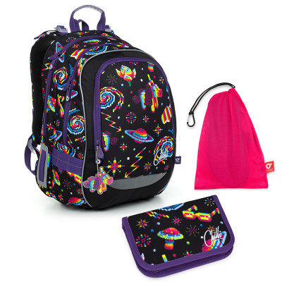 Set pre školáka CODA 19006 G SET MEDIUM - Školská taška, Vrecko na prezuvky, Školský peračník
